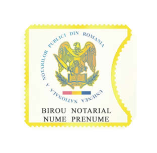 Stamp Notarial Label